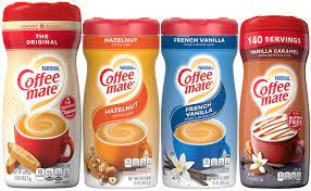 Image not available for color: Amazon Com Coffee Mate Powdered Creamer Variety 4 Pk 1 Of Each Of The Following Original Hazelnut French Vanilla Vanilla Caramel Grocery Gourmet Food