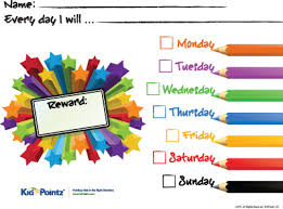 Free Printable Reward Charts Kid Pointz