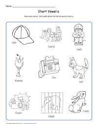 Build sentences with cvc and sight words. School Express Short Vowel Worksheet Education World