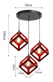 creative square pendant light metal