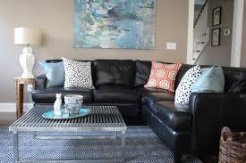 Living Room With Black Furniture Modern Black Leather Living Room Furniture