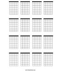 Blank Chord Chart Pdf Free Download Printable With Blank