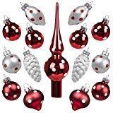 Dunkelrote Weihnachtskugeln Badassbossde