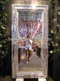 bathroom vanity broken glass mosaic wall mirror in home decor retangle wave structure frame 02