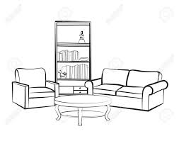 fancy couch drawing. Plain Fancy Couch Drawing Beautiful Woodworking Design Shelf Drawing Home  Interior Furniture With Sofa Armchairtable Book In Fancy Couch Drawing R