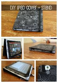 a more than practical diy ipad book cover and stand practically functional