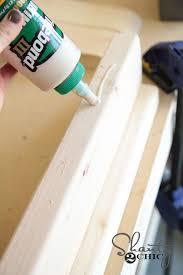 diy sawhorse coffee table wood glue