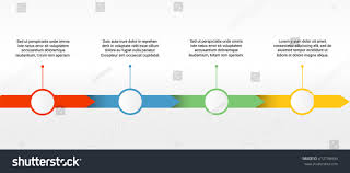 Vector Timeline Template Four Colorful Parts Stock Vector Royalty