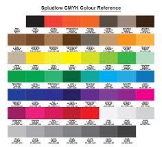 Cmyk Color Value Chart Cmyk Colours In Pdf Files