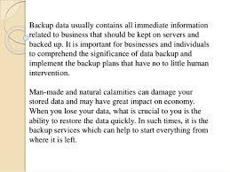 Importance Of Data Storage And Backup