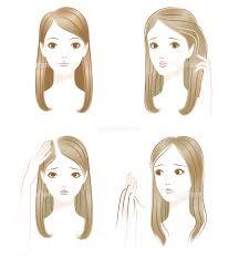 髪の悩み 白髪 薄毛 抜け毛 イラスト素材 4475379 フォトライブ