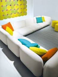 3 seater garden sofa with removable cover mellow aqua collection by paola lenti