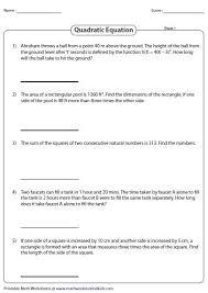 word problems involving quadratic