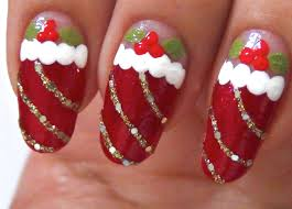 Cute easy christmas nails - how you can do it at home. Pictures ...