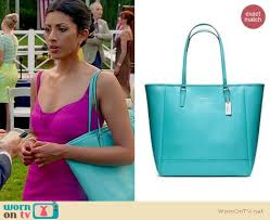Royal Pains Bags  Coach North South City Tote worn by Reshma Shetty ...