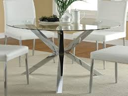 round glass dining table. Fashionable Glass Dining Tables Round Table Brings The Wow Factor With Cwairwd