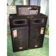 Karaoke ngoài trời Loa 4 Bass + Amply ( TẶNG 10 MÉT DÂY LOA + 2 MICRO )