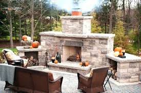 outdoor stone fireplace kits cost patio kit outside wood outdoor fireplace kits