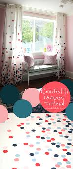 Drop Cloth Curtains Tutorial Remodelaholic Confetti Drapes Tutorial