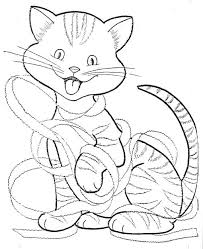 Christmas Cat Coloring Pages Hello Kitty Christmas Coloring Pages To