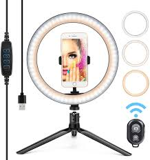 Desk Ring Light Amazon 10 Ring Light Led Desktop Selfie Ring Light Usb Led Desk Camera Ringlight 3 Colors Light With Tripod Stand Iphone Cell Phone Holder And Remote