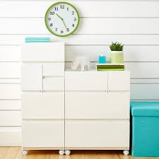 White Opaque Modular Stackable Drawers ...