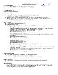 School Nurse Job Description For Resume Free Resume Example And