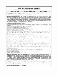 General Office Clerk Resume Sample Sample Resume Office Clerk Inspirational Entry Level Fice Clerk 21