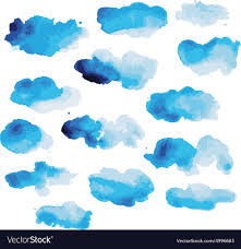 Clouds Design Watercolor Clouds For Your Design Royalty Free Vector Image
