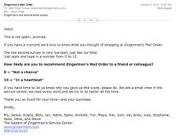 Zingermans Simple Email Survey Signal V Noise