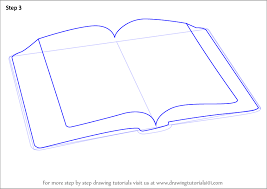 learn how to draw an open book