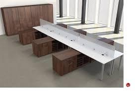 office desk cabinet. Picture Of Peblo 6 Person Bench Teaming Office Desk Workstation Multi  Storage Cabinet Office Desk Cabinet