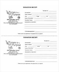 salvation army receipt 39 free receipt forms