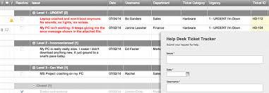 Excel Log Sheet Template Help Desk Ticket Tracker And Form Template Smartsheet