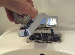 remove bathroom faucet. Finally, Undo The Linkage For Drain Plug, And Old Faucet Can Be Pulled Out. There Will Probably A Surprising Amount Of Crud Under Faucet. Remove Bathroom R