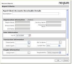 Aged Accounts Receivable Aged Accounts Receivable Details Report