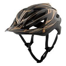 Troy Lee Designs Mountain Bike Helmet Troy Lee Designs 2017 A2 Pinstripe Mips Mtb Helmet Black Gold