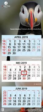 Q101 3 Month Calendars Quartas En