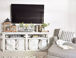 Tv stand decor Rustic Industrial Farmhouse Living Room Decor Cherished Bliss Living Room Update New Chair Cherished Bliss