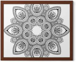 Vector Henna Tetování Mandala Mehndi Styl