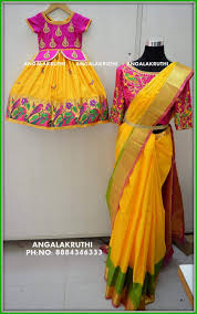 Mother Designer Chennai Mother And Daughter Matching Dress Designs By Angalakruthi