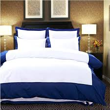 pure color home textile 4pcs embroidered hotel bedding set white blue duvet cover bedclothes bed sheet hotel quality