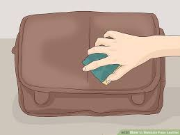 image titled maintain faux leather step 1