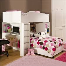 girls loft bed desk
