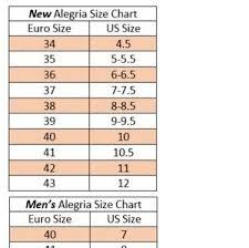 Alegria Size Chart Alegria Sandals Size 7 7 5