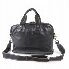 f70812 black with new coach coach leather briefcase business bag strap