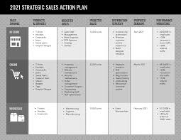 Action Plan Template Gray Sales Action Plan Template
