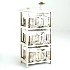 shelving unit with baskets shelves