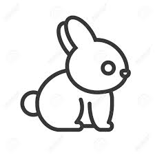 Rabbit Cartoon Outline Royalty Free Cliparts Vectors And Stock