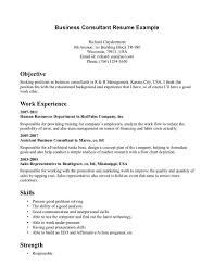 Sample Business Consultant Resume Tomyumtumweb Com